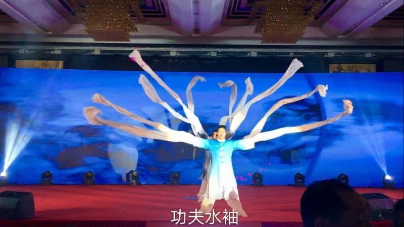 广州东莞深圳《中原武术功夫团》精品团队节目【旗开得胜旗舞